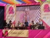 At a Panel on Adaptations with Zoe Heller, Sebastian Faulks, Tim Supple, and Ariel Dorfman at the Jaipur Literary Festival 2013