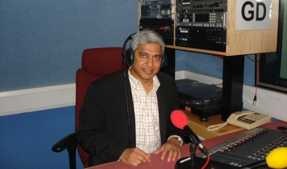 At BBC Studios in London, doing BBC Regional Radio GNS interviews on January 12, 2009