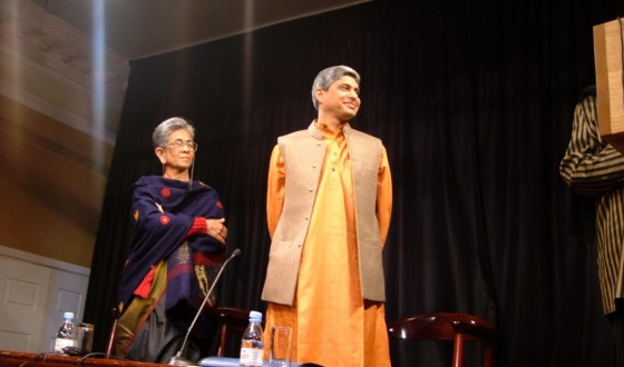 At a book reading at Nehru Centre, London with Shashi Deshpande, April 15, 2005
