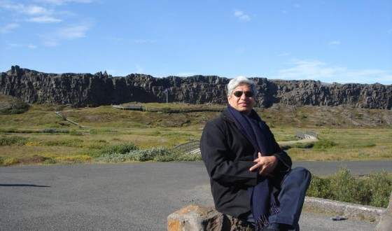 At the _ingvellir National Park in Iceland which is the site of a rift valley that marks the crest of the Mid-Atlantic Ridge, September 9, 2011