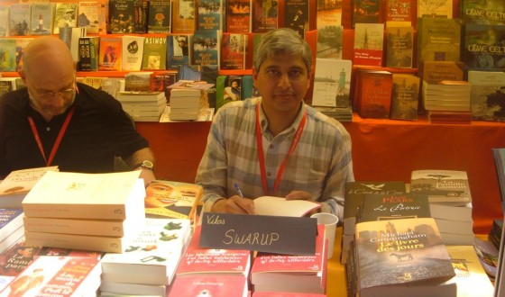 Signing Books at the St Malo Festival, June 3, 2008