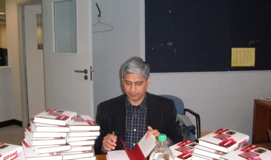 Signing books in London April 2005